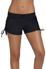 Hitam Ruched Side Swimsuit Bottom