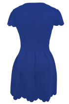 Blue Sweet Scallop Lipit Skater Dress