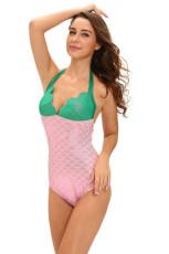 Grünes rosa Funkeln-kleines Meerjungfrau-Teddy-Kostüm