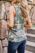 Tanktop met camouflageprint en gedraaide zoom