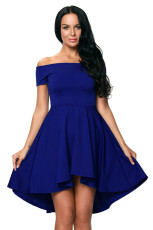 Blue All The Rage Skater Dress
