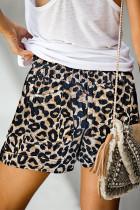 شلوار جیب کمر الاستیک گاه به گاه کشش چاپ Leopard