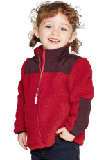 Κόκκινο φερμουάρ Unisex Fleece για παιδιά