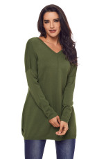 Armata Verde Soft V Neck Pulover