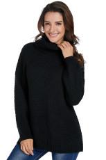블랙 코지 긴 소매 터틀넥 스웨터