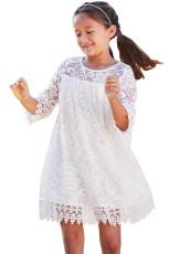 Beyaz Kızlar Rüya Dantel Elbise