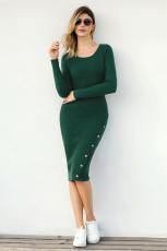 لباس سبز دکمه سبز