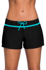 أزرق تريم أسود نساء السباحة Boardshort