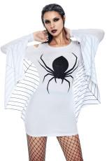الأبيض سترة العنكبوت جيرسي اللباس