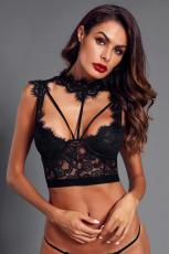 Sort Lace Strappy Bustier Crop Top