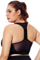 Черный сетчатый ремешок для йоги для женщин