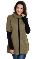 육군 녹색 개인 카우걸 목 풀오버 스웨터