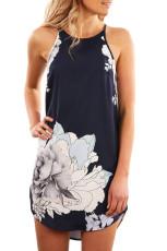 Sukienka bez rękawów Blooming Peony Print Navy