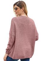 เสื้อกล้ามถักสีชมพูกว้างยาวเป็นชิ้นชมพู