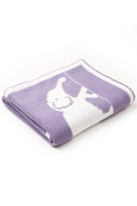 Purple Cute Elephant Cute Baby Swaddle Blanket