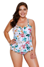 Bañador con estampado floral Peplum One Piece Tropical