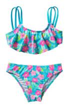 گل زدن دختران چاپ دو مجموعه لباس شنا