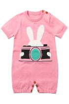 Розовый кролик фотографии Baby T-shirt Onesies