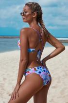 Kalın Çiçek Baskı Tatil Moda Bikini Mayo