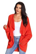 Brick Dolman Sleeve Neulottu Cardigan Pocket