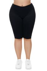 Черные колено Длина плюс размер Спортивные штаны