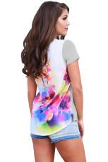 Floral Wonderland Grey Short Sleeve Shirt