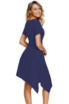 Donanma Büküm Ön Forma Midi Elbise