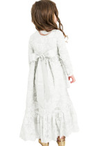 Creamy Blomster Blonde Flower Girl Maxi Dress