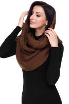Коричневый кабельный вязание Короткие шарфы