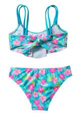 Tyttöjen rypytyskukkapainatus kaksiosainen uimapuku