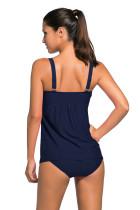 Swimsuit de Swim Tankini azul marinho 2pcs Swing
