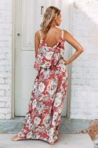 Chic letní Boho květinové Maxi šaty v růžové
