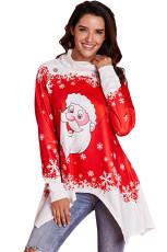 Kukuletası Boyun Noel Baba Accent Xmas Tunik Üst
