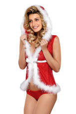 Bont Trim Vest met capuchon Sheer Red 2pcs Kerstset