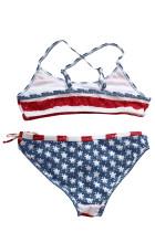 ستاره ها و نوارها flounce لباس شنا بیکینی برای کودکان و نوجوانان