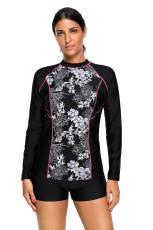 High Neck Long Sleeve Rashguard Surfing Dykning Badkläder