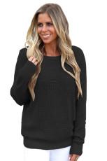 Черное крестовина назад выдолбленный свитер