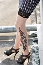 Klasické Tribal inspirované tetování punčochy