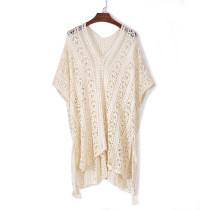 Βερίκοκο πλέκω πλεκτό φούντα δεμένη Kimono Beachwear