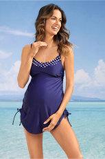 Maiô de maternidade com regata azul e calcinha