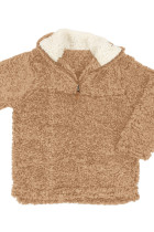 Sweatshirt Gadis Mocha Luxe Fuzzy Pullover Sherpa