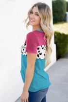 Rose Color Block T-shirt