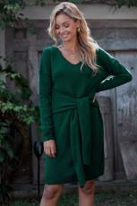 グリーンネクタイセータードレス