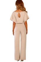 Aprikose Oh So Glam Belted Overall mit weitem Bein