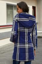 معطف من القطن المخلوط باللون الأزرق الخلاب