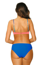 Rosa Solid Push Up Patchwork Print Bikini