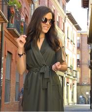 Army Green Mouwloos Shirt Lange jurk met zakken