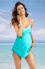 ชุดว่ายน้ำสำหรับคุณแม่ตั้งท้อง Tank Turquoise พร้อมกางเกงใน