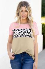Rosa färgblock T-shirt