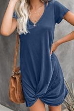Blue Clear Skies Jersey Twist T-shirt klänning
